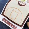 Basketball Burp Cloth
