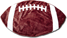 Maroon and White Football Baby Blanket