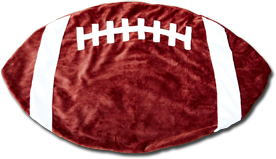 Red and White Football Baby Blanket