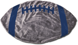 Silver and Blue Football Baby Blanket