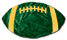 Green and Gold Football Baby Blanket