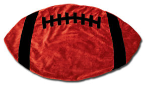 Red and Black Football Baby Blanket